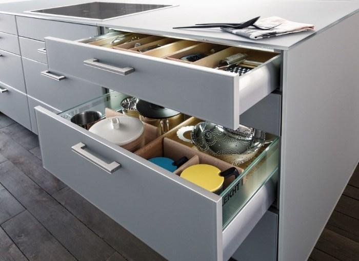 Хранение на кухне без верхних шкафов