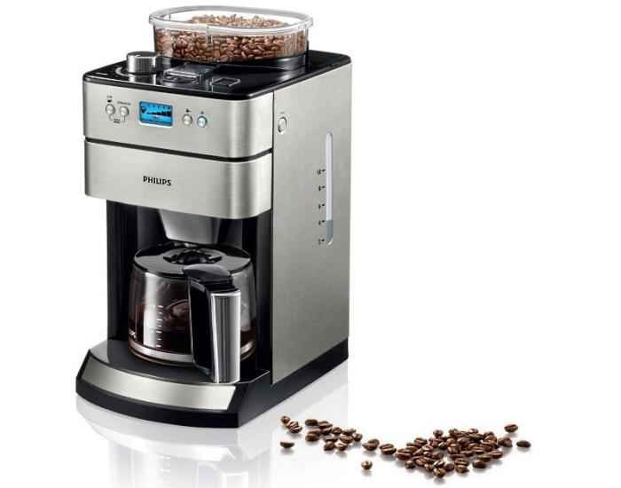 Кофеварка с кофемолкой для дома