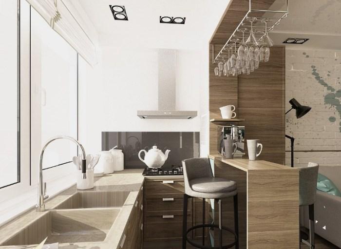 Кухня 5 кв м с балконом