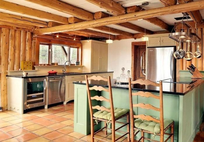 Кантри кухня в частном доме