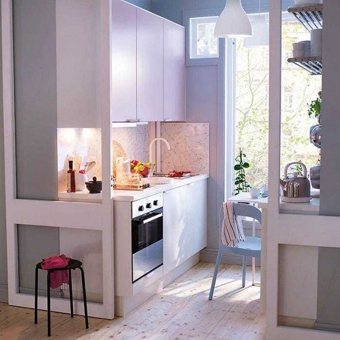 маленькая кухня от икеа