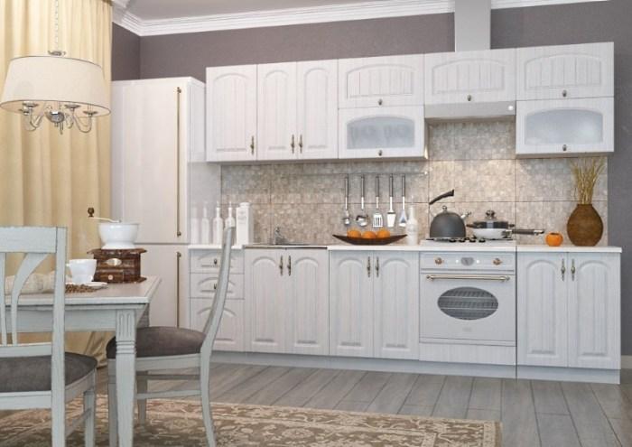 белая модульная кухня