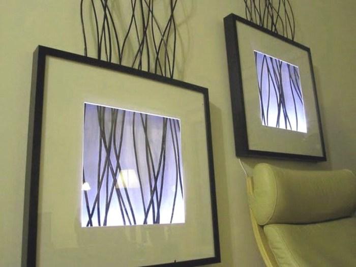 Настенные светильники-картины своими руками