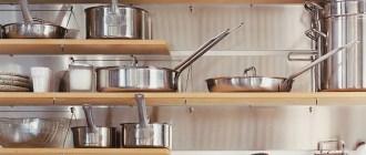 Полки для кухни из дерева разных видов и форм