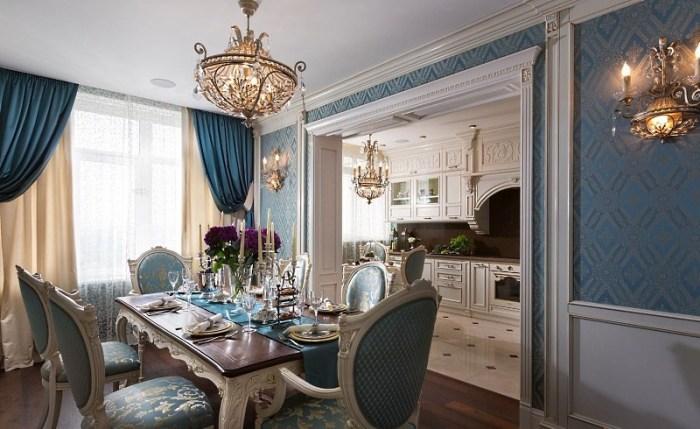 Кухня столовая в русском стиле