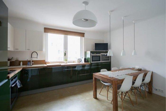 Пример освещения на кухне в стиле минимализм