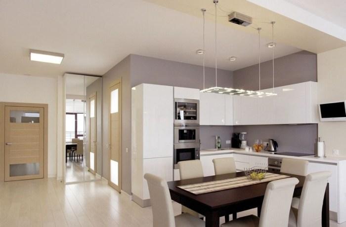 Потолок на кухне минимализм