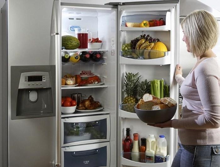 Загрузка холодильника