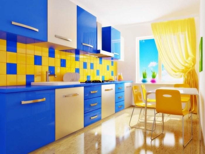 Желто синий цвет
