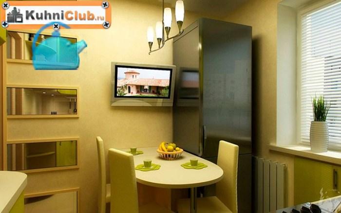 Телевизор-в-маленькой-кухне