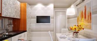 Как расположить телевизор на кухне
