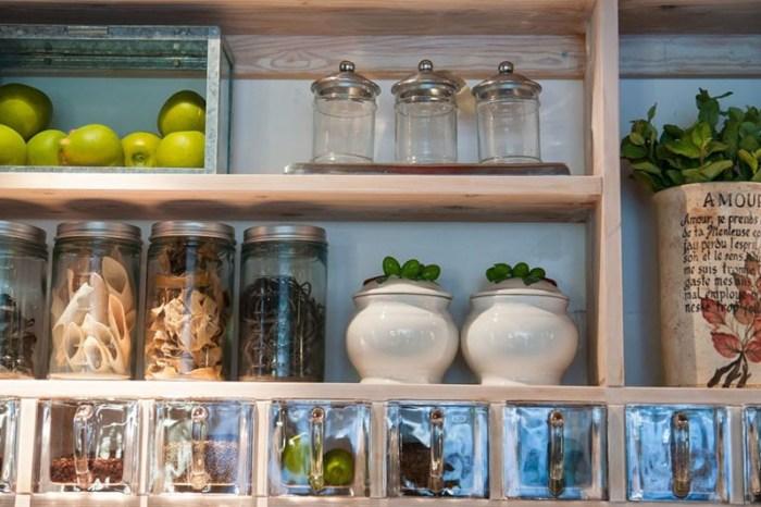 Полка кухонная с ящичками