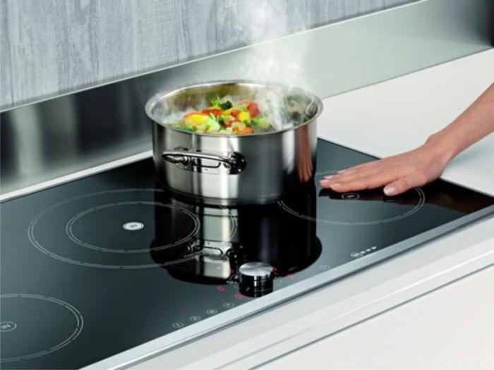 Холодная поверхность индукционной плиты