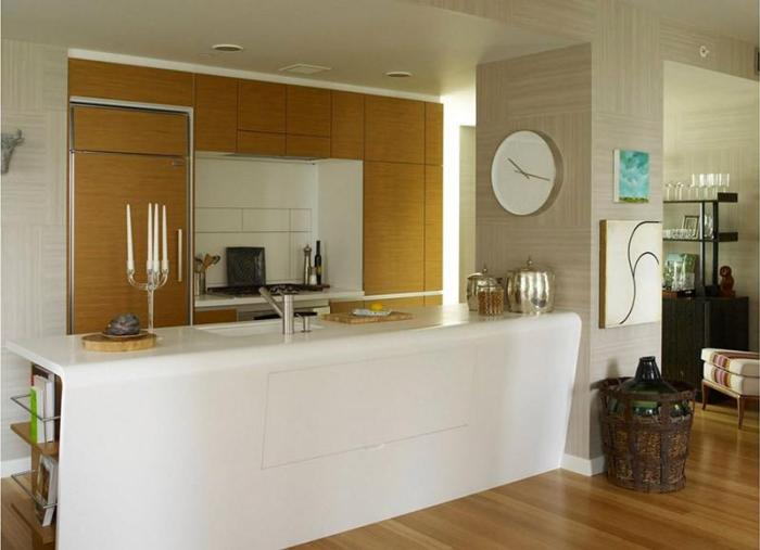 Часы на кухне в стиле минимализм