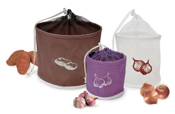Тканевые сумки для хранения овощей
