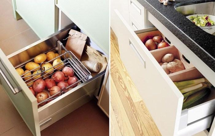 Выдвижные ящики для овощей