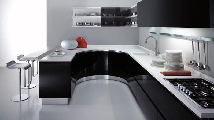 Открытые и закрытые полки вместо кухонных шкафов