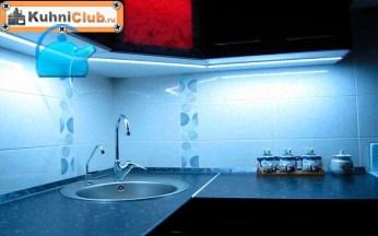 Светодиодная-подсветка-столешницы-ночью