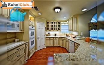 Плафон-и-точечные-светильники-на-кухне-с-низким-потолком