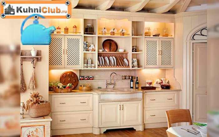 Трехуровневая-кухня-в-стиле-прованс
