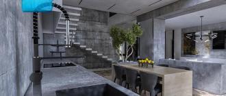 Кухня-под-бетон