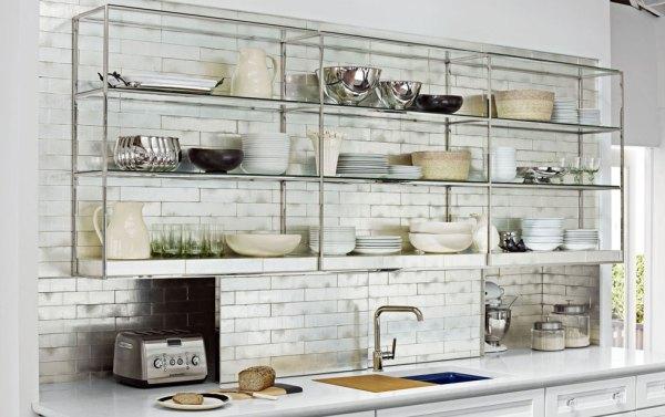 Полки На Кухне Фото Вместо Шкафов
