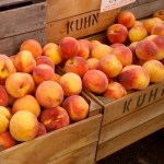 Fresh produce peaches