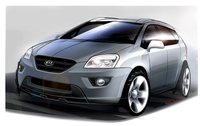 Kia Carens concept sketch. Please let us know who is this attributable to. Thanks