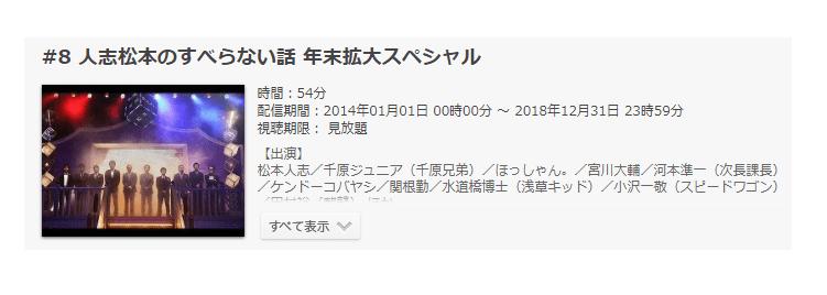 「人志松本のすべらない話 年末拡大スペシャル」の動画