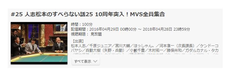 「人志松本のすべらない話25 10周年突入!MVS全員集合」の動画