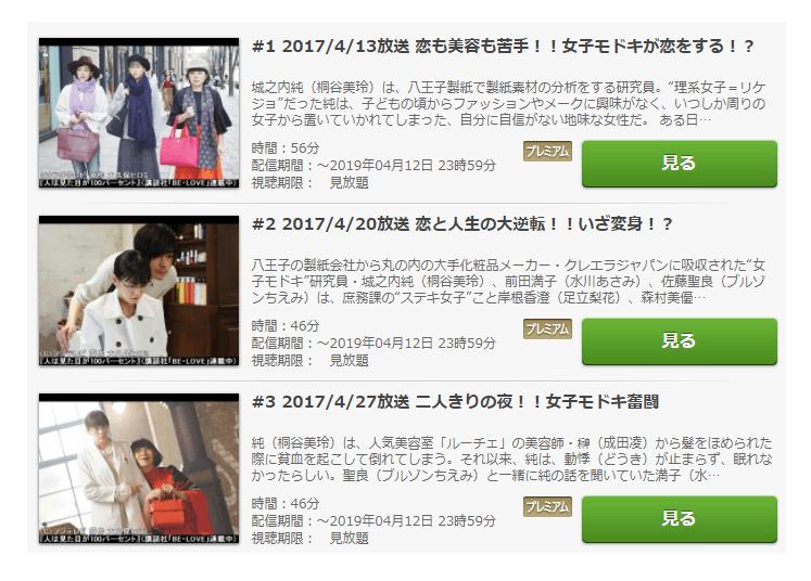 ドラマ「人は見た目が100パーセント」の全動画(1話~最終回)