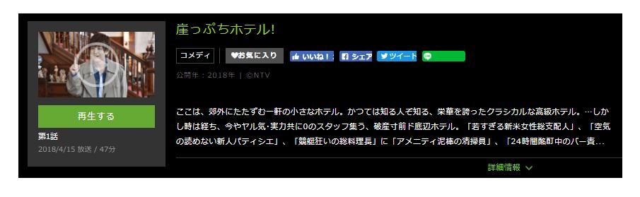 「崖っぷちホテル」のドラマ動画(1話~最終回)