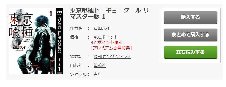 原作漫画「東京喰種トーキョーグール」