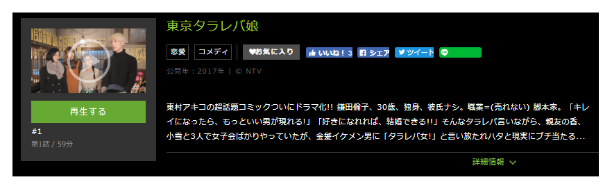 「東京タラレバ娘」のドラマ動画(1話~最終回)