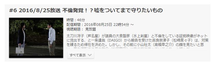 「営業部長 吉良奈津子」第6話の動画のあらすじ