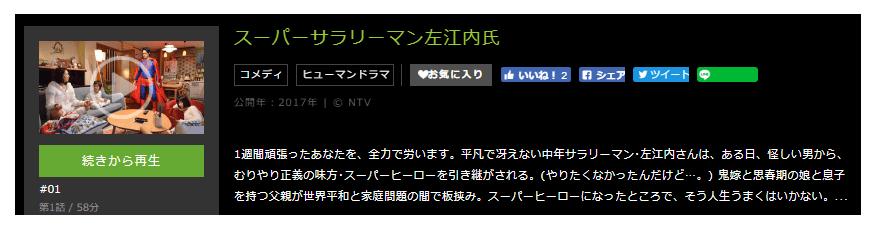 「スーパーサラリーマン左江内氏」のドラマ動画(1話~10話<最終回>)