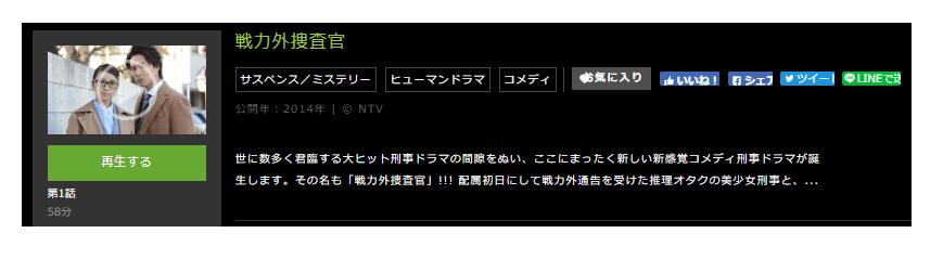 「戦力外捜査官」のドラマ動画(1話~10話<最終回>)