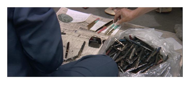 第15作「男はつらいよ 寅次郎相合い傘」で寅さんが啖呵売した商品「易本(人相・手相)、万年筆」