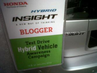 Kujie2.com Bersama Sesi Pandu Uji Honda Hibrid
