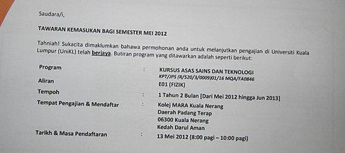 Matrik Atau Diploma? IPTA atau IPTS ?