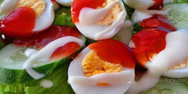 Menu Berbuka Puasa :  Salad Telur