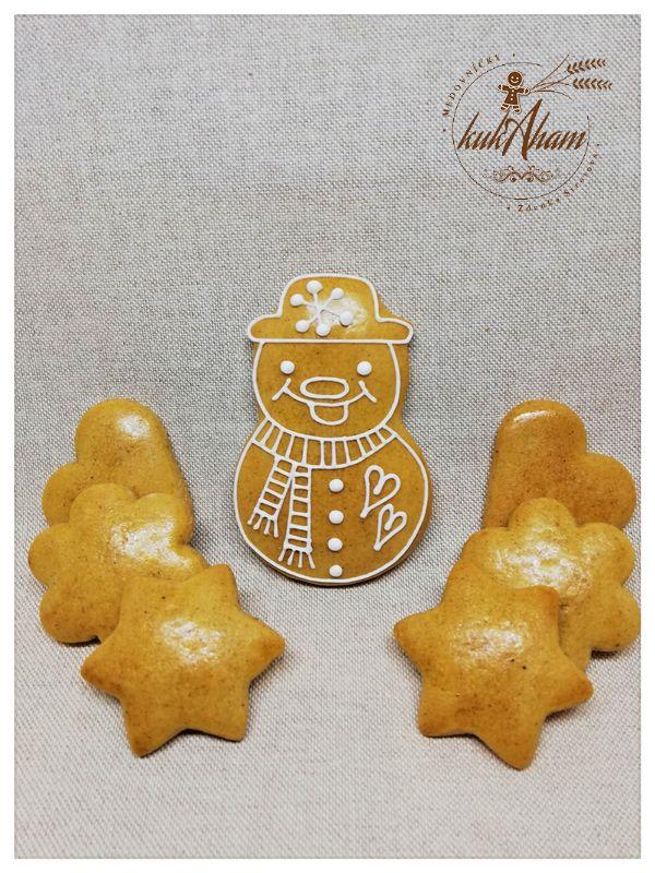 Snehuliak s mini medovníkami
