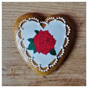 Medovník s ružou