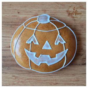Medovníková tekvica na Halloween