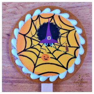 Halloween pavúk medovník na paličke