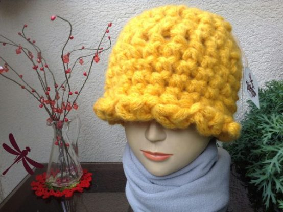 Puf kapa SUNCE / Unique Puff hat SUN