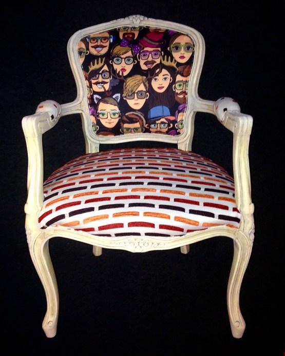 retro fotelja luj XV
