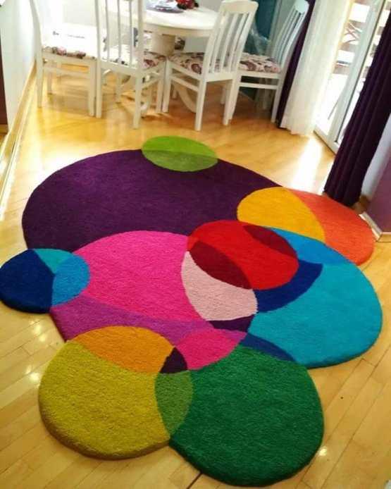 ručno taftovani vuneni tepih