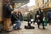 Roma musicians in Helsinki, 2008.