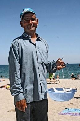 Pakistani seller in Barcelona, 2010.